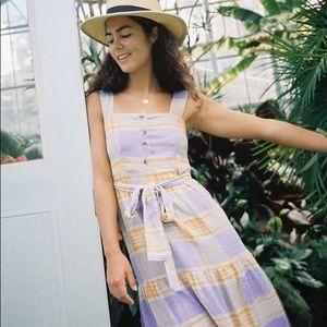 Urban outfitters Sankaty linen ruffle maxi dress